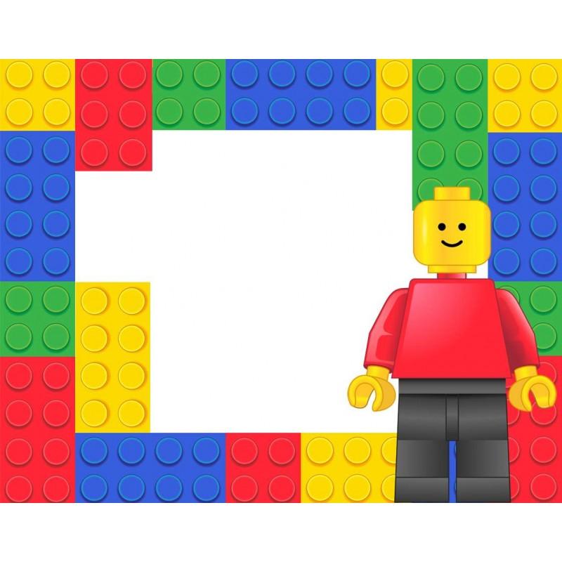 Targhette segnaposto Lego block party - 9 pz