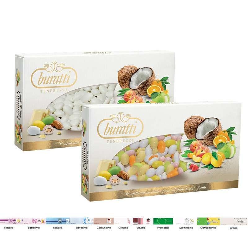 Buratti 2 kg di confetti misto frutta