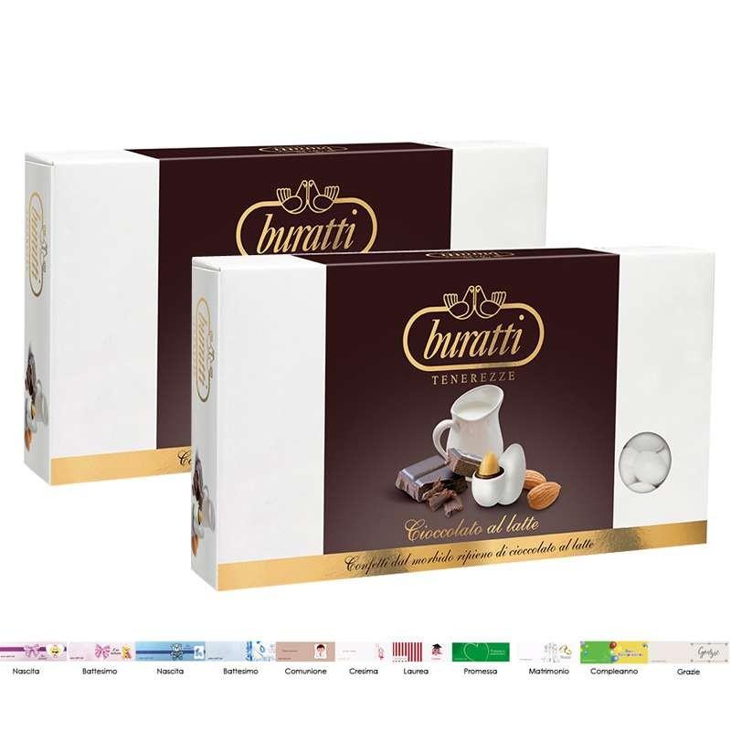 Buratti 2 kg di confetti cioccolato al latte