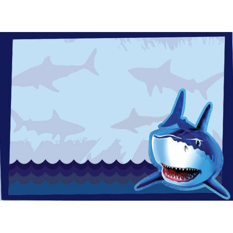 Targhetta segnaposto squali