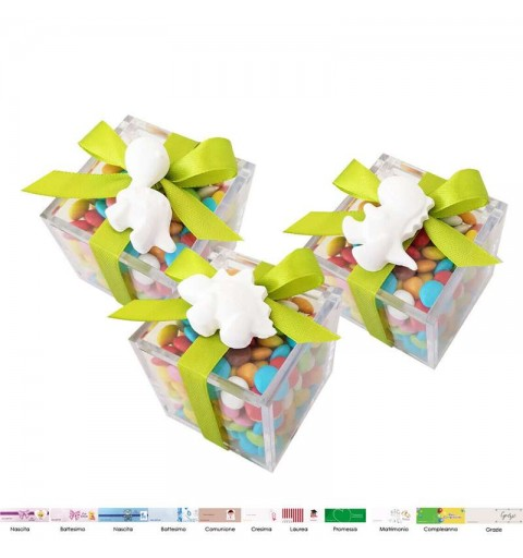 Bomboniere dinosauri gessetti con scatoline plastica