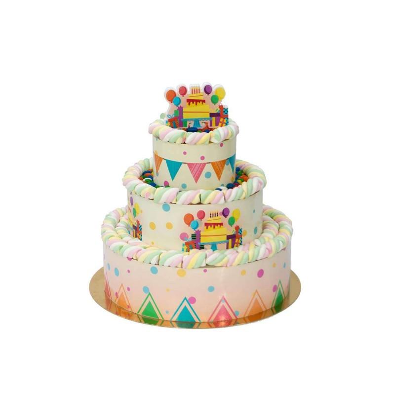 Torta di marshmallow compleanno