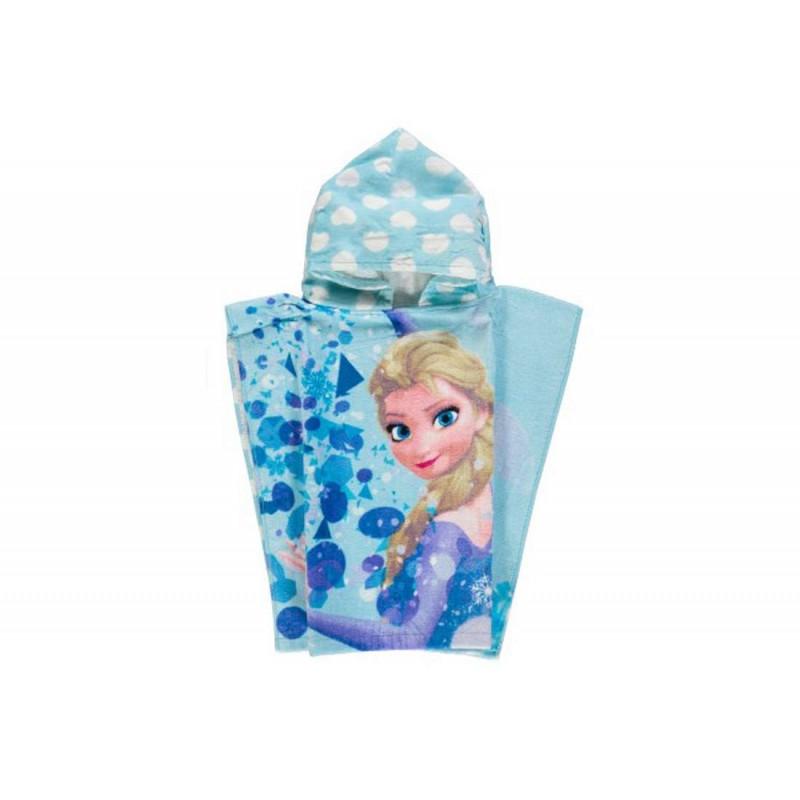 Poncho Frozen Elsa accappatoio con cappuccio
