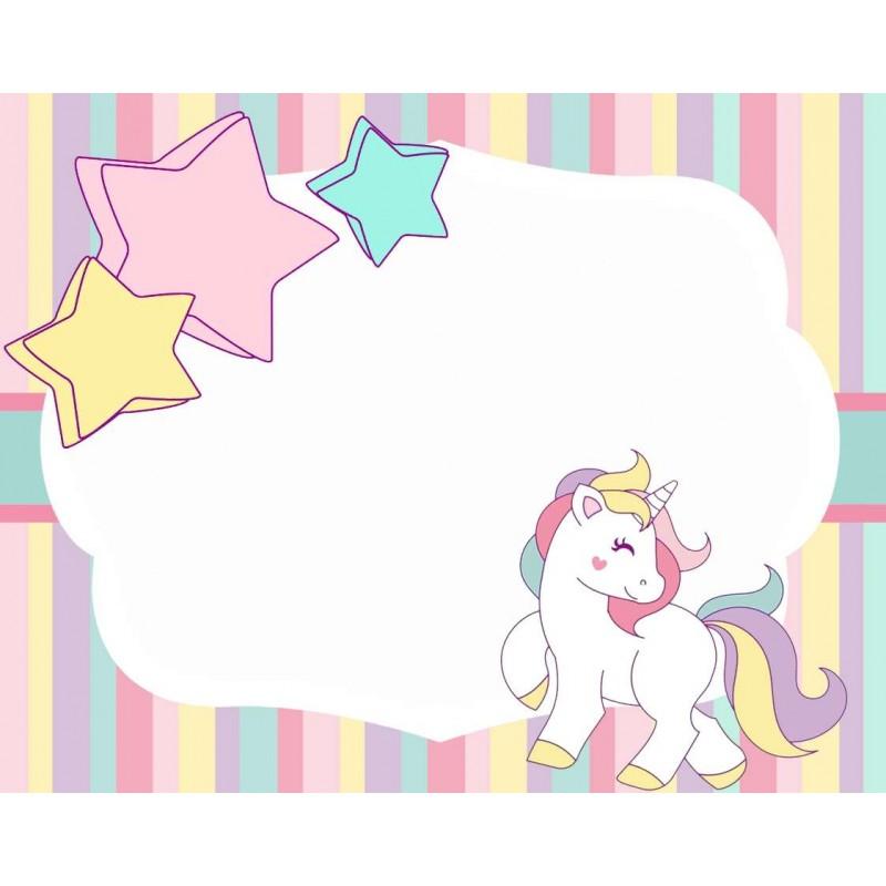 Targhetta unicorno segnaposto segnagusto