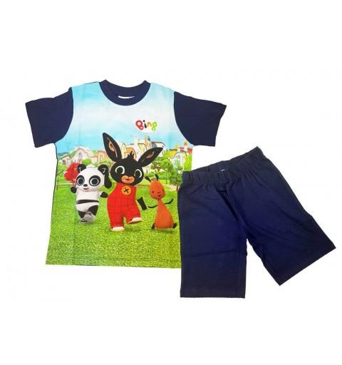 Bing Completo T-Shirt E Pantaloncini Coniglietto in Cotone Bambino