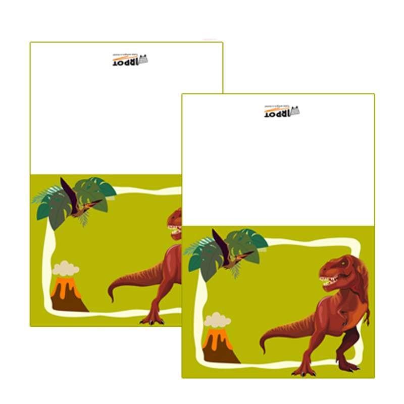 Targhetta segnaposto dinosauri