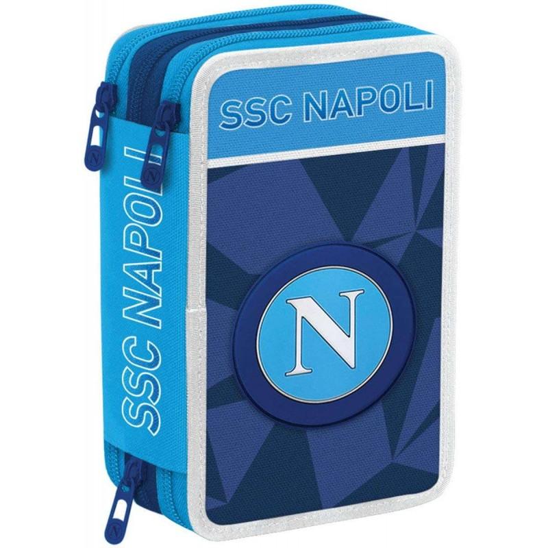 Irpot Set Zaino Scuola SSC Napoli Astuccio Ombrello Accessori Scuola