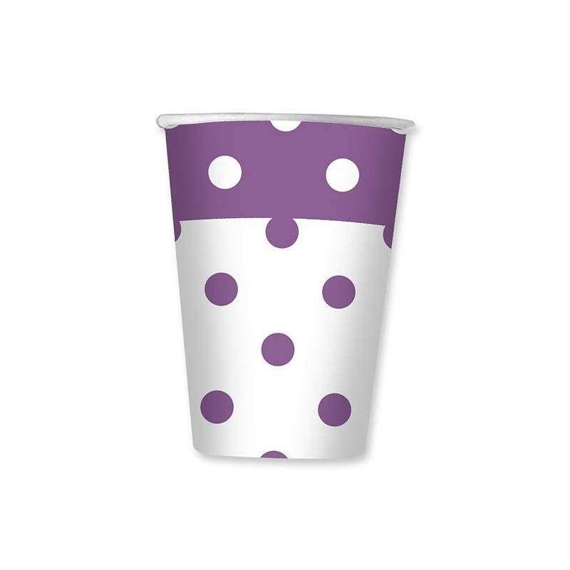 Bicchieri pois lilla for Tende lilla glicine