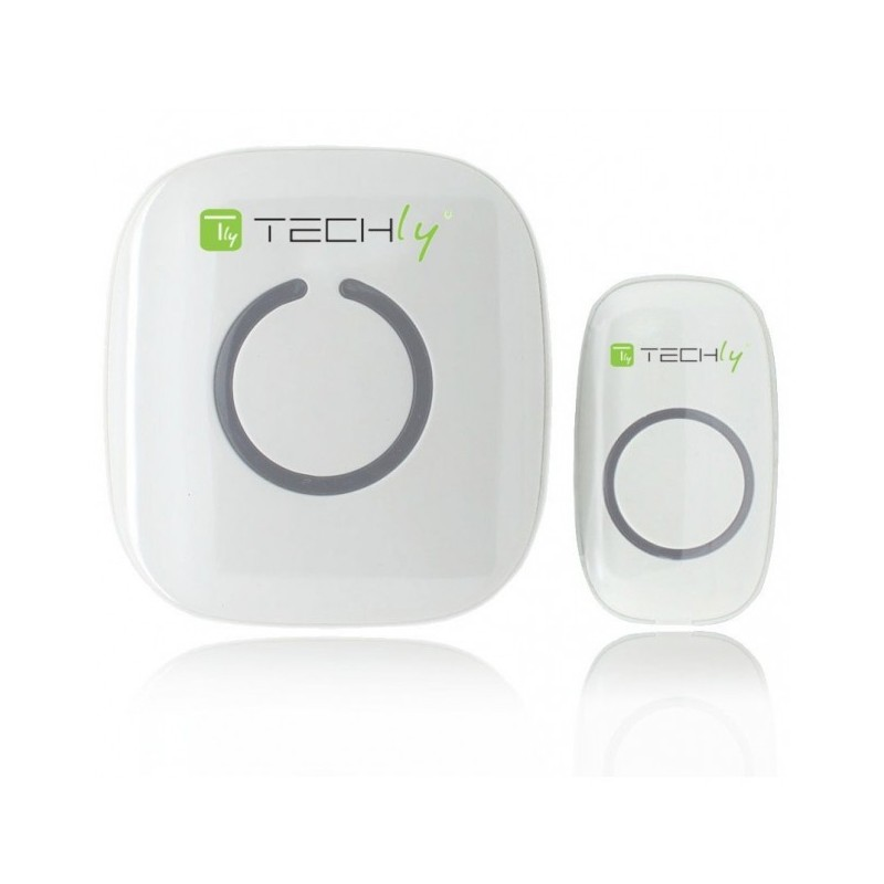 I-BELL-RING01 CAMPANELLO WIRELESS SENZA FILI CON TELECOMANDO FINO 300 MT TECHLY
