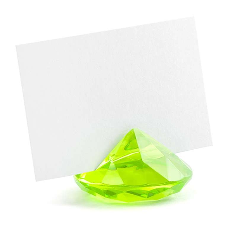 Segnaposto Matrimonio Verde Mela.Diamanti Verdi Segnaposto Matrimonio Wedding