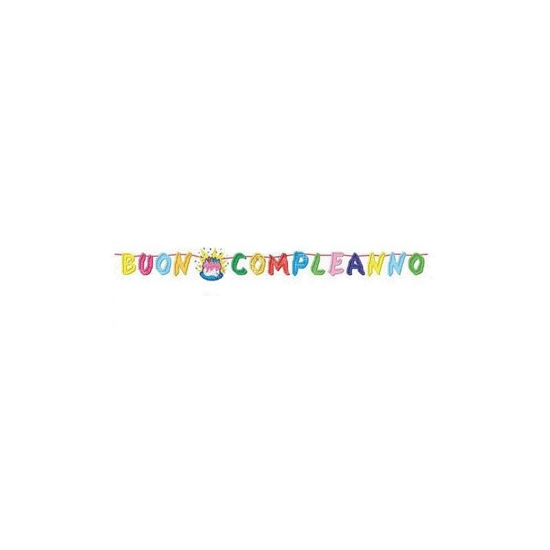 FESTONE BUON COMPLEANNO 6 METRI 13393