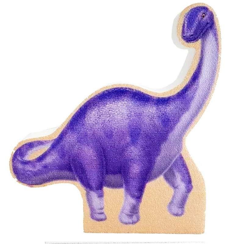 Dinosauro brontosauro viola in polistirolo