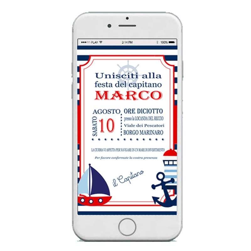 Invito digitale mare