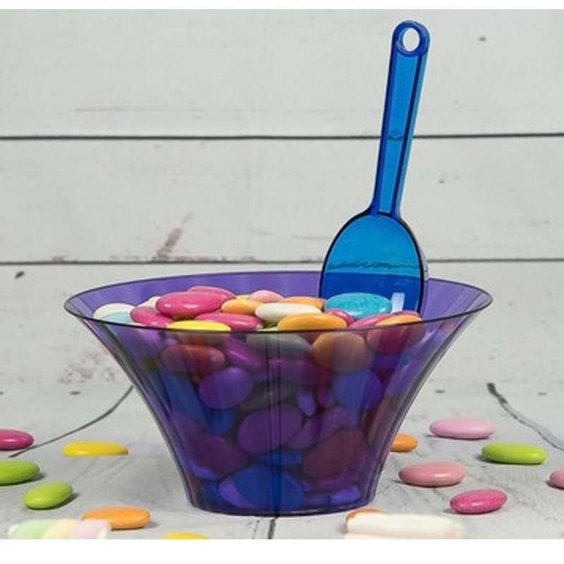 Contenitore viola caramelle confetti