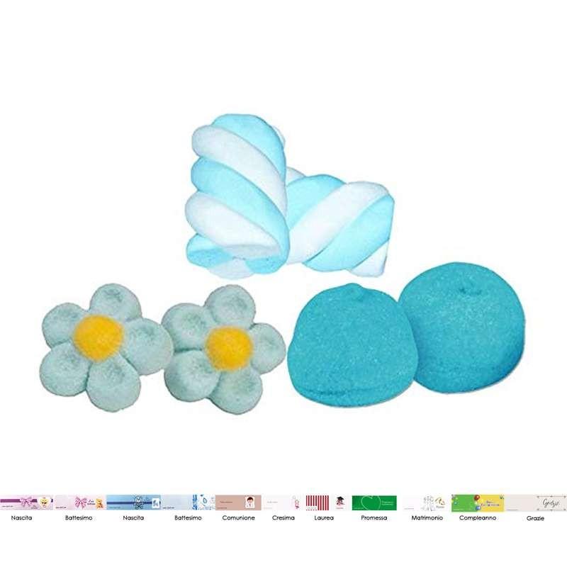 Marshmallow celesti caramellata sweet table