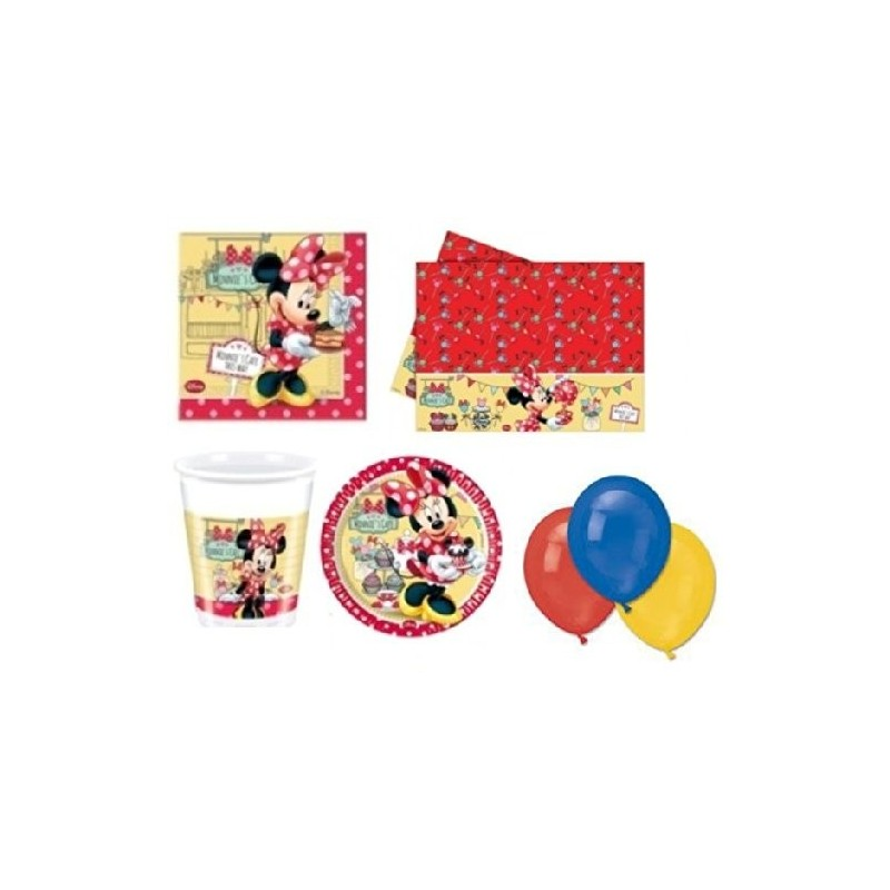 KIT N4 209 PZ COMPLEANNO BAMBINA MINNIE'S CAFE'