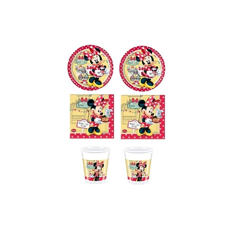 KIT N2 72 PZ COMPLEANNO BAMBINA MINNIE'S CAFE'