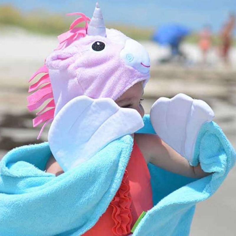 Asciugamano unicorno con cappuccio