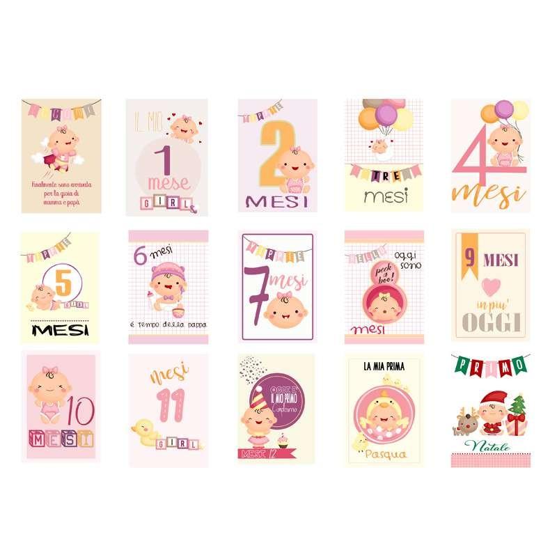 Carte segnatappe neonata