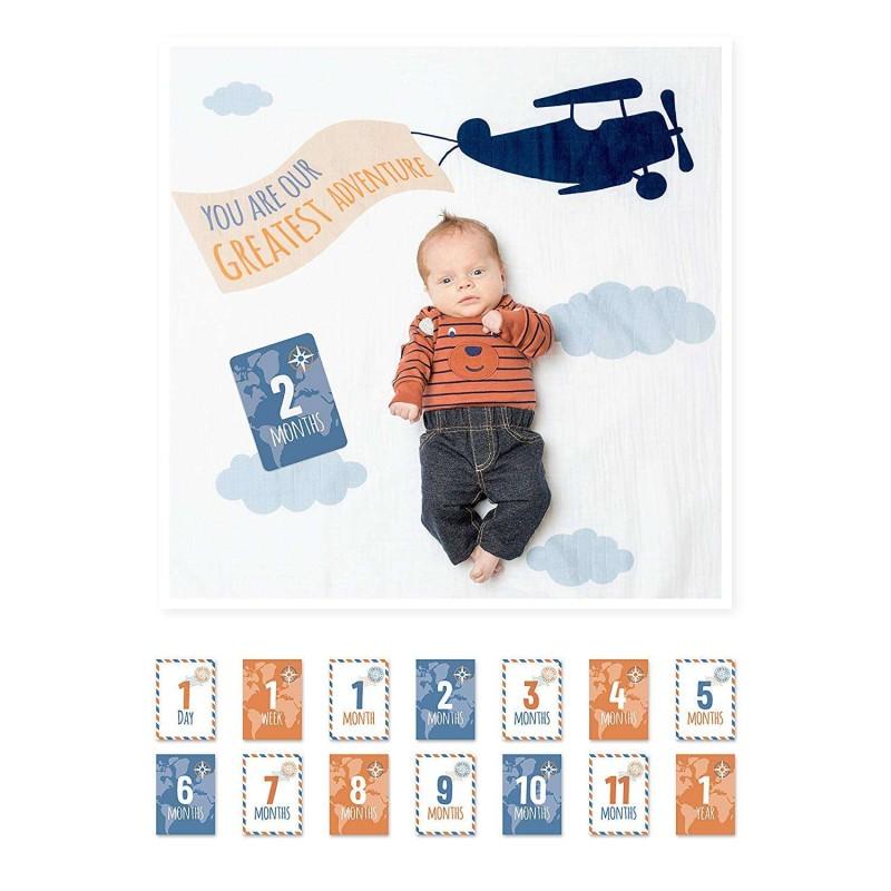 Copertina aeroplano con card ricordo
