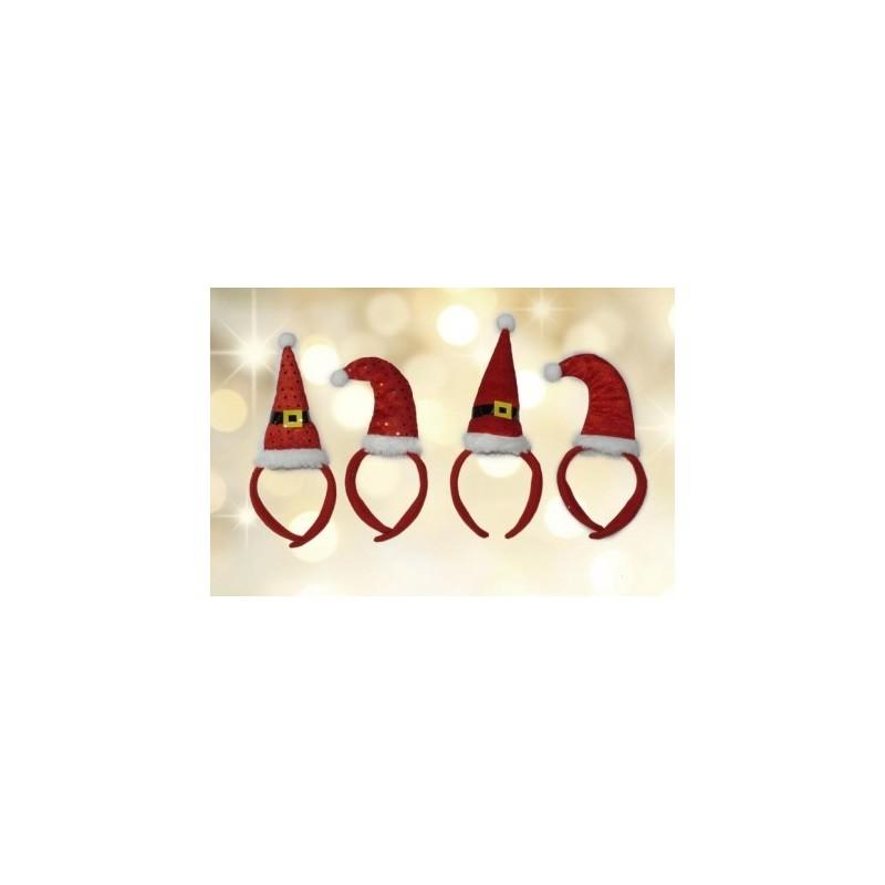 3 CERCHIETTI CON CAPPELLINO BABBO NATALE 437403