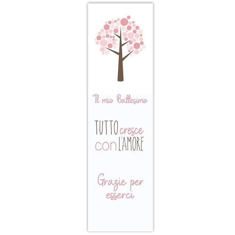 Segnaposto albero rosa