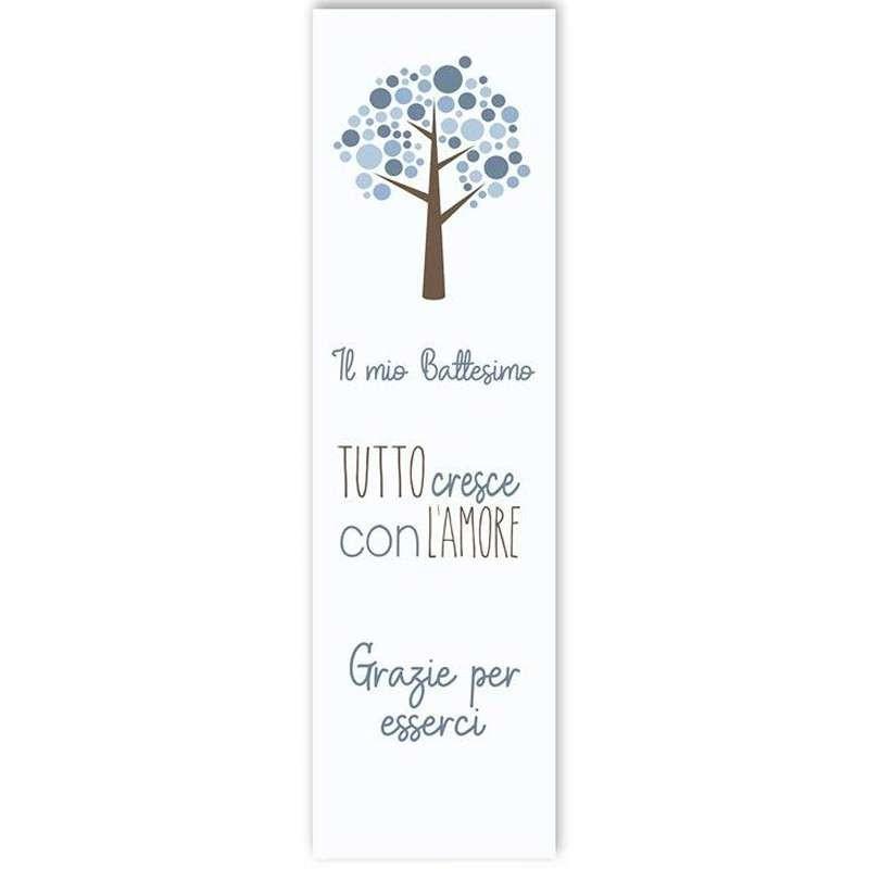 Segnaposto albero celeste