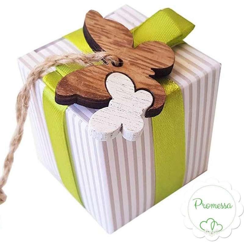 Bomboniere Matrimonio Con Farfalle.Bomboniere Promessa Di Matrimonio Con Farfalle Di Legno Bicolor