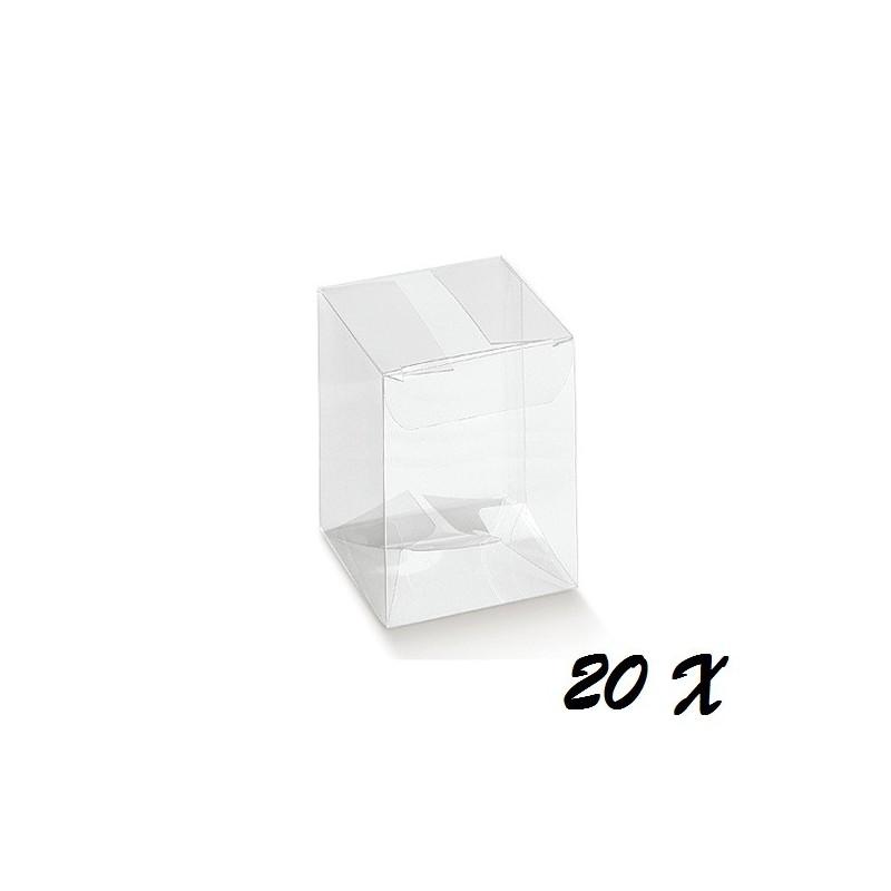 20 SCATOLINE PORTACONFETTI IN PVC 9X9X12 CM 94037