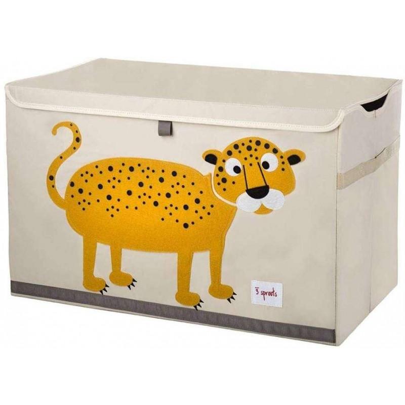 Baule portagiochi leopardo per la cameretta di un bambino
