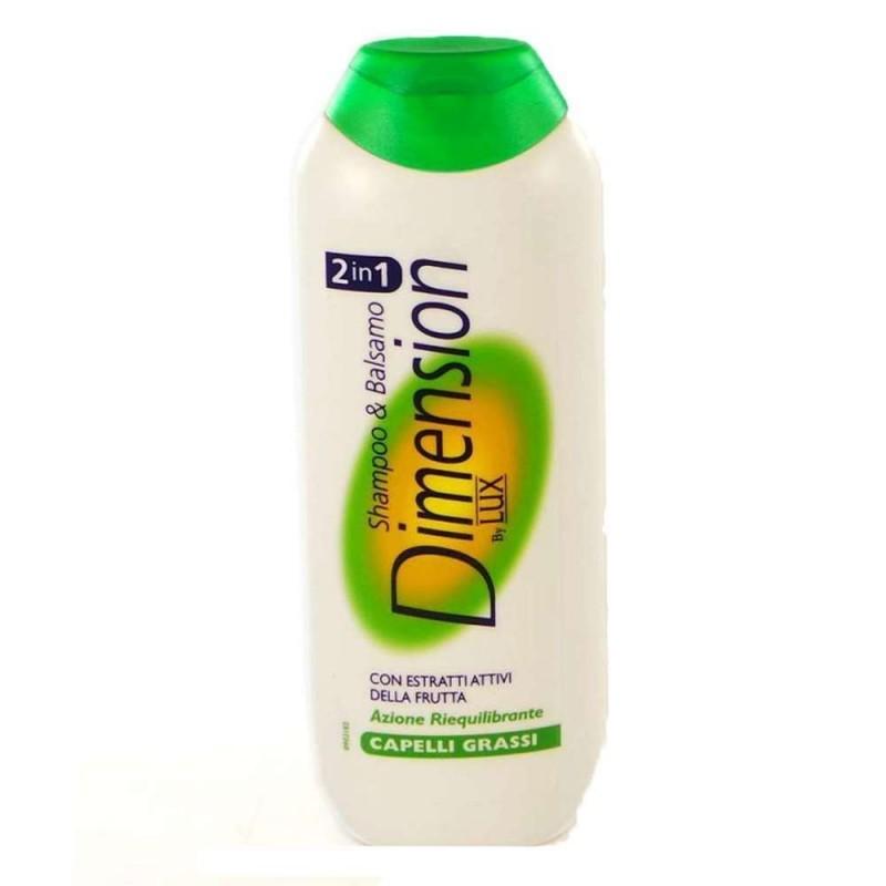 Shampoo e balsamo Dimension 2 in 1 con azione riequilibrante