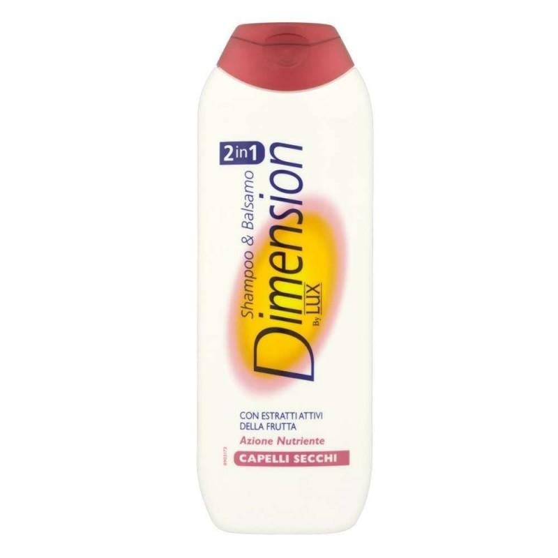 Shampoo e balsamo Dimension capelli secchi 2 in 1