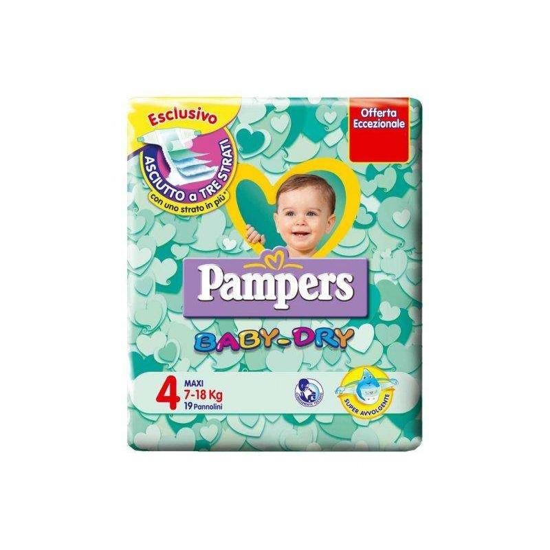 Pacco di pannolini 4 taglia Pampers baby dry