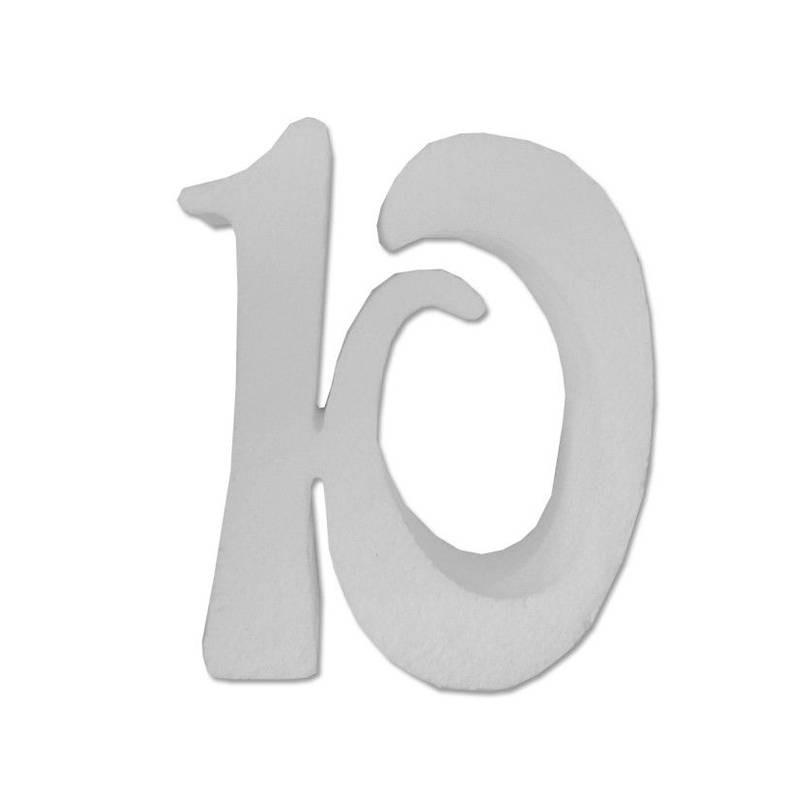 DECORAZIONE POLISTIROLO NUMERO 10 - X2