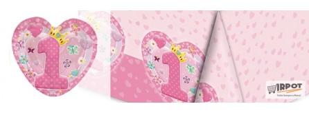Cuore Rosa addobbi primo compleanno