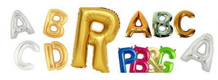 Balloons letters