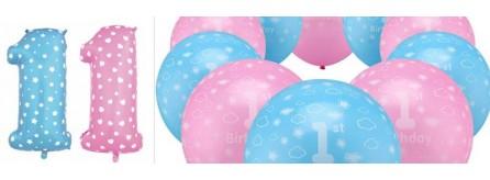 Palloncini primo compleanno