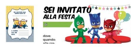 Inviti compleanno bambini
