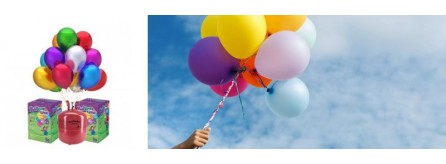 Flying helium balloons