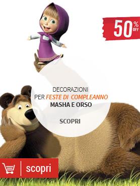 Addobbi compleanno Masha e Orso
