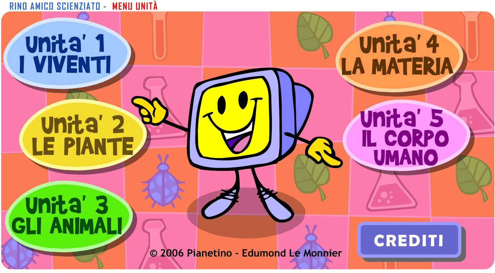 Rino Amico Scienziato Le Piante : Rino amico scienziato app per giochi bambino on line