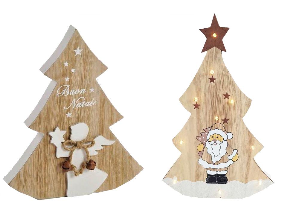 Alberi Di Natale In Legno Da Appendere : Albero di natale in legno ad incastro con luci o da appendere