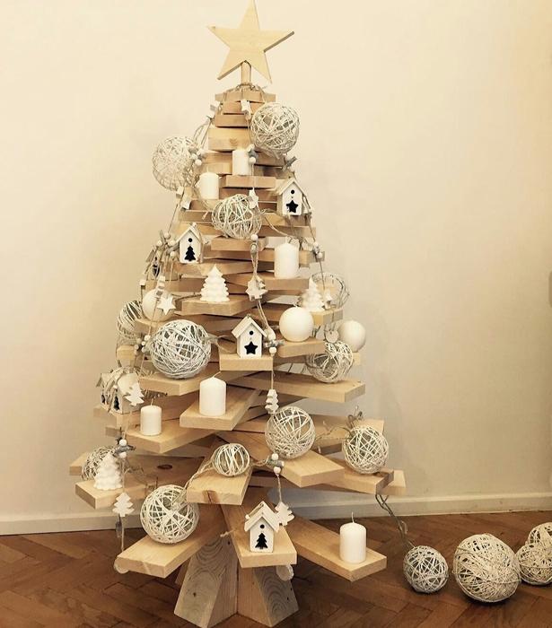 Alberi Di Natale In Legno.Albero Di Natale In Legno Ad Incastro Con Luci O Da Appendere Irpot