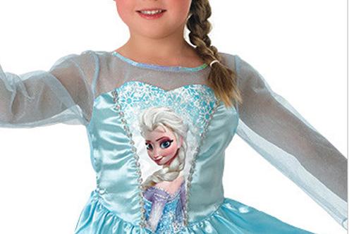 33bcc2d19c52 costume Frozen. Come potete vedere dalla foto la particolarità risiede  nella parte frontale dell'abito: la vostra bambina si sentirà una vera  principessa di ...