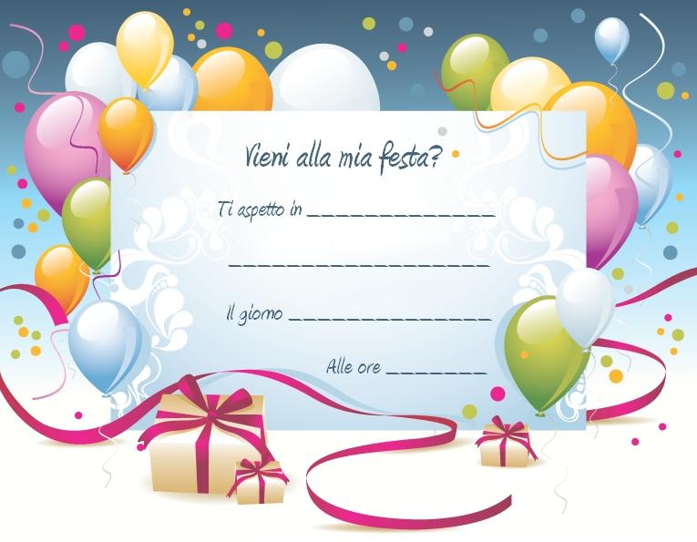 Eccezionale Inviti compleanno bambini fai da te - Irpot LM18
