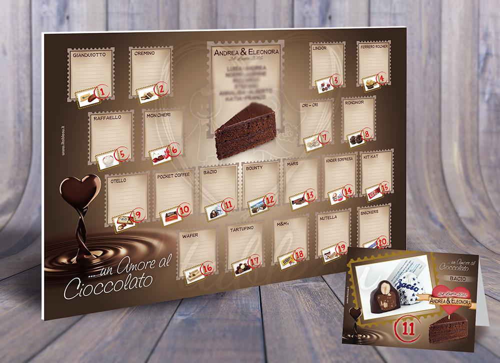 Tableau Matrimonio Natalizio : Matrimonio a tema cioccolato quando la golosità si fonde con l