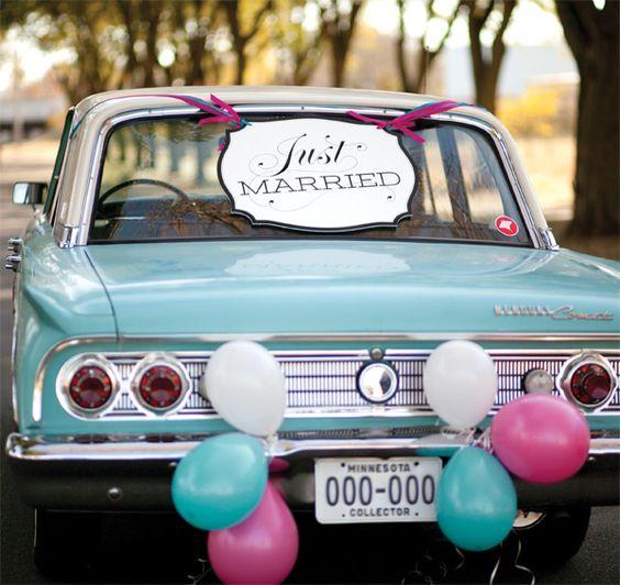 Come addobbare la macchina per gli sposi scopri mille for Targa oggi sposi