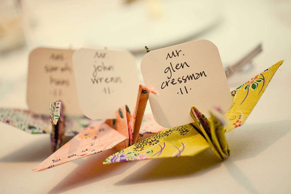 Matrimonio Tema Origami : Idee segnaposto matrimonio consigli su come scegliere