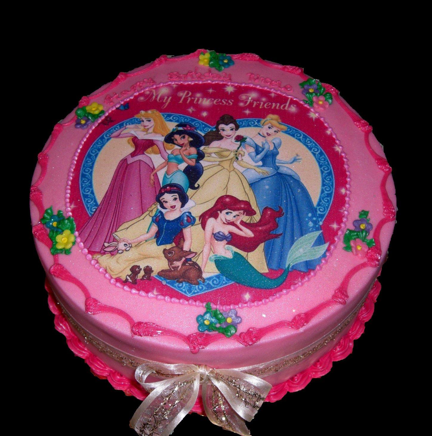 Torta principesse disney meraviglie scintillanti da