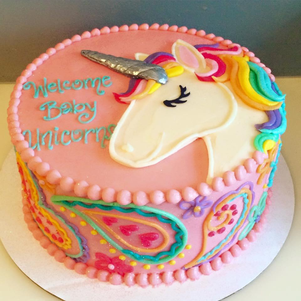 unicorno torta cialda